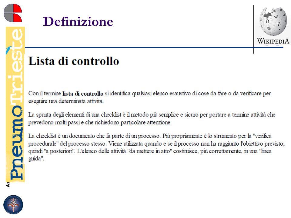 Azienda Ospedaliero-Universitaria Ospedali Riuniti di Trieste Struttura Complessa di Pneumologia Direttore: Dott. Marco Confalonieri Definizione