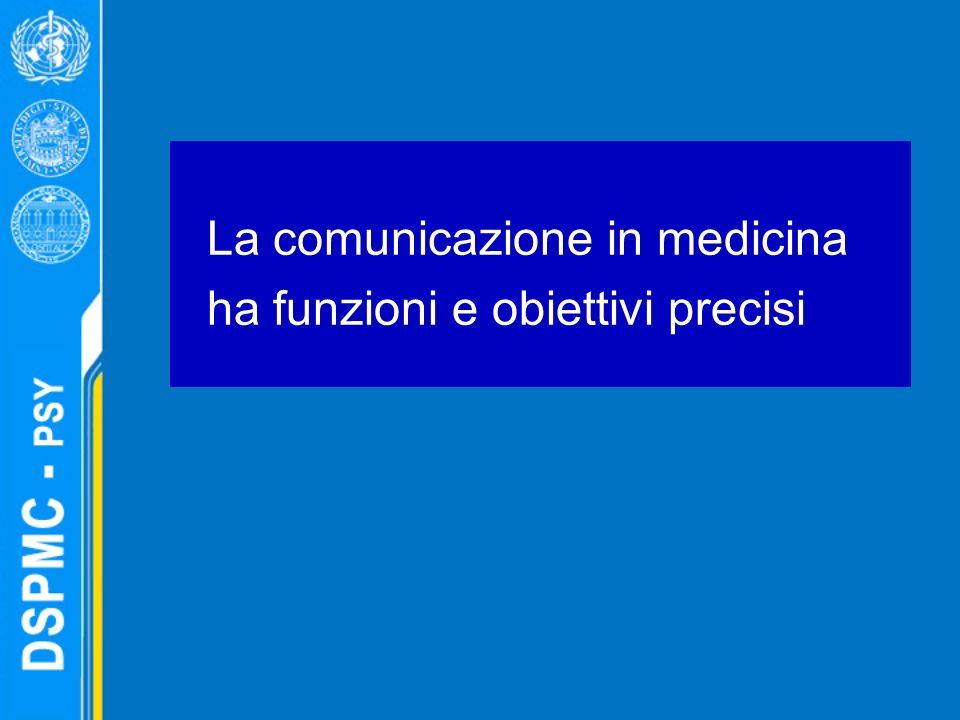 La comunicazione in medicina ha funzioni e obiettivi precisi