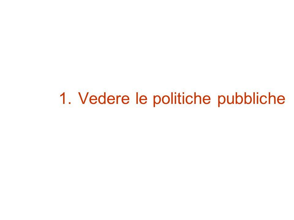 1.Vedere le politiche pubbliche