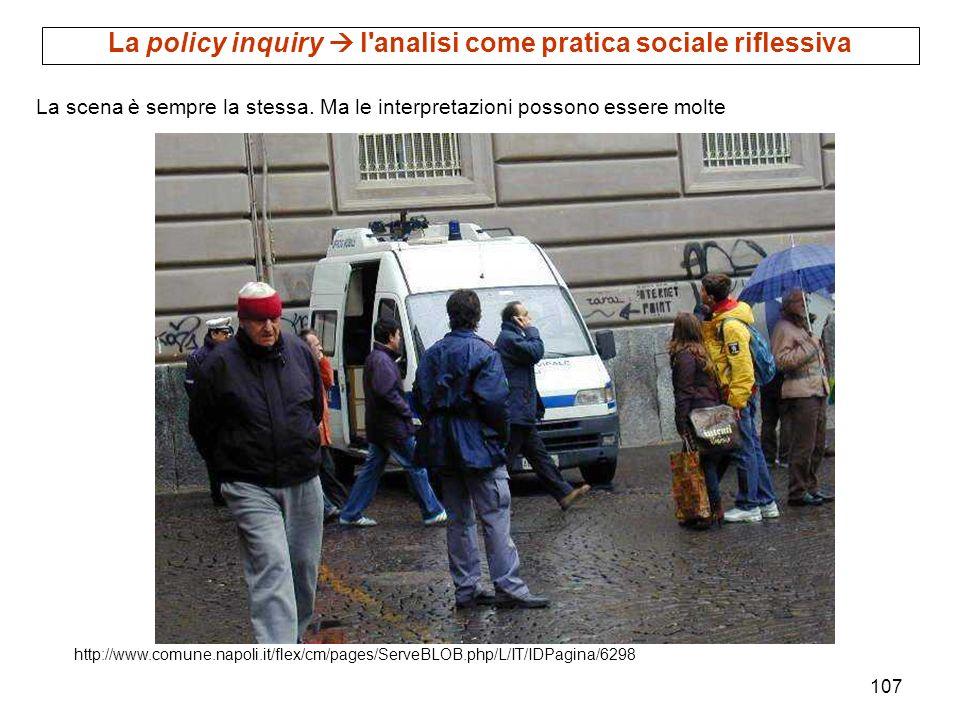 107 http://www.comune.napoli.it/flex/cm/pages/ServeBLOB.php/L/IT/IDPagina/6298 La scena è sempre la stessa. Ma le interpretazioni possono essere molte