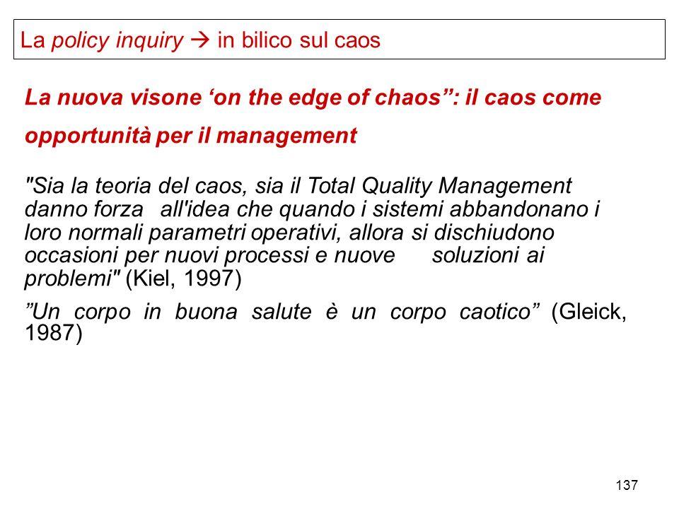 137 La nuova visone on the edge of chaos: il caos come opportunità per il management