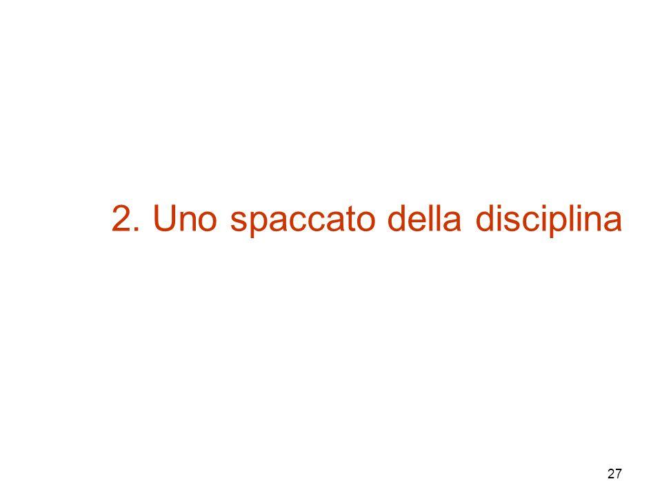 27 2. Uno spaccato della disciplina