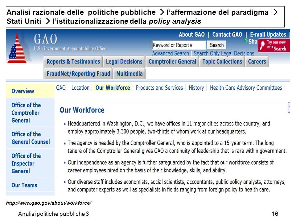 Analisi politiche pubbliche 316 Analisi razionale delle politiche pubbliche laffermazione del paradigma Stati Uniti listituzionalizzazione della polic