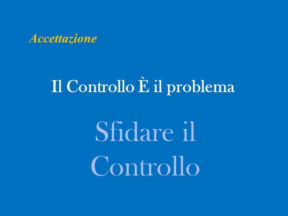 Il Controllo È il problema Sfidare il Controllo Accettazione