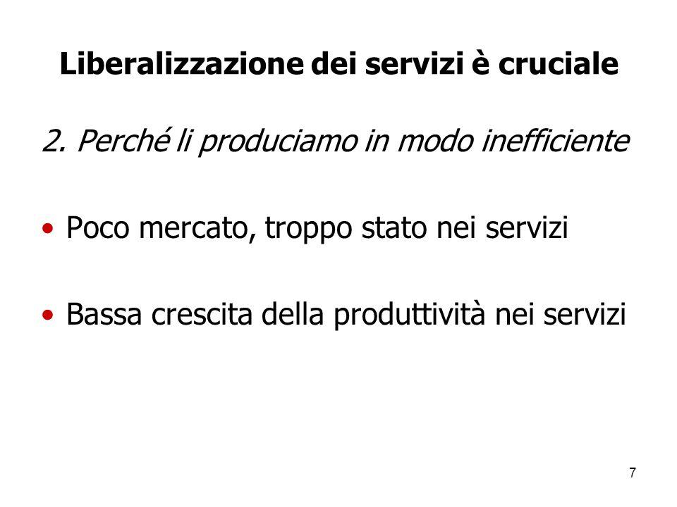 7 Liberalizzazione dei servizi è cruciale 2.
