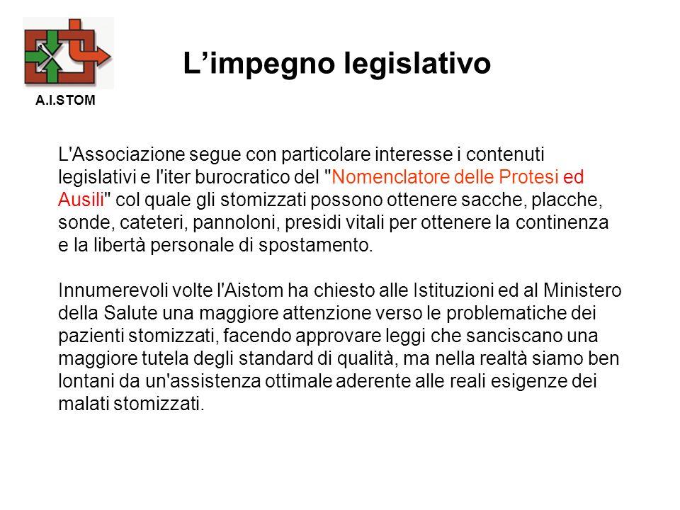 L'Associazione segue con particolare interesse i contenuti legislativi e l'iter burocratico del