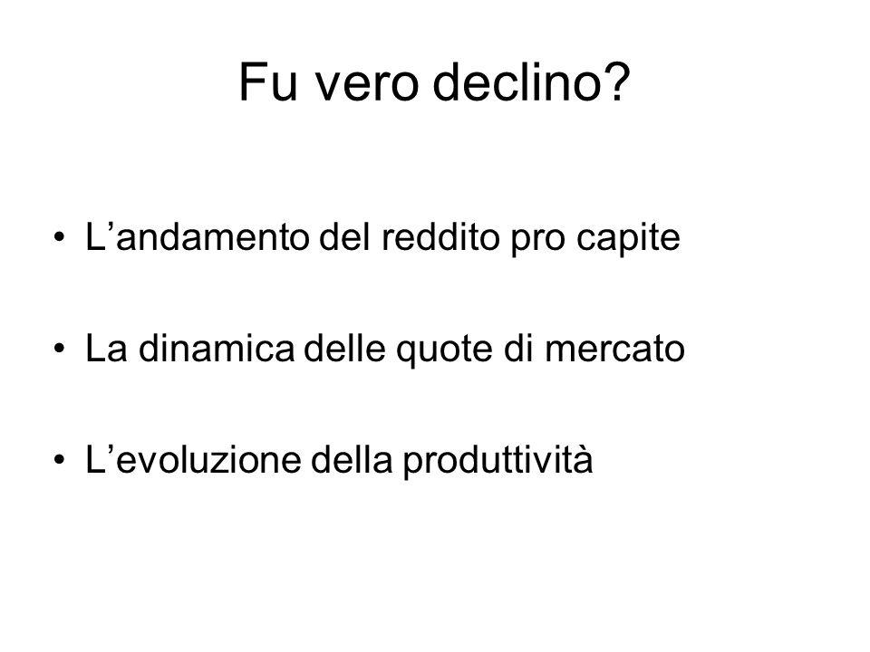 In estrema sintesi,le difficoltà delleconomia italiana… Non hanno natura congiunturale Non possono essere attribuite a shock di offerta, da salari o da materie prime Non sono causate dal rallentamento delleconomia mondiale