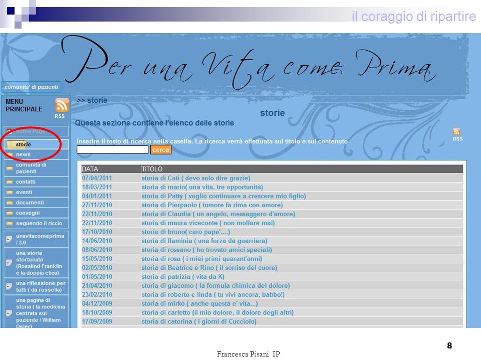 8 il coraggio di ripartire Francesca Pisani IP