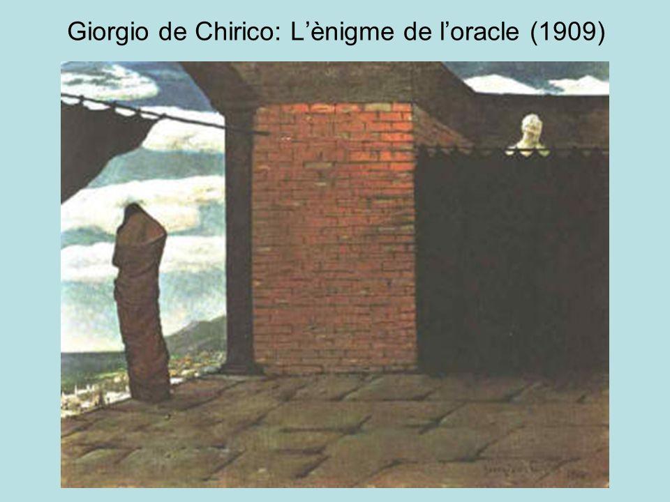 Giorgio de Chirico: Lènigme de loracle (1909)
