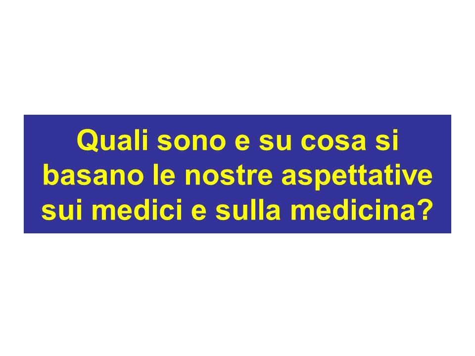Quali sono e su cosa si basano le nostre aspettative sui medici e sulla medicina?