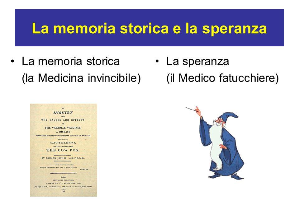 La memoria storica e la speranza La memoria storica (la Medicina invincibile) La speranza (il Medico fatucchiere)