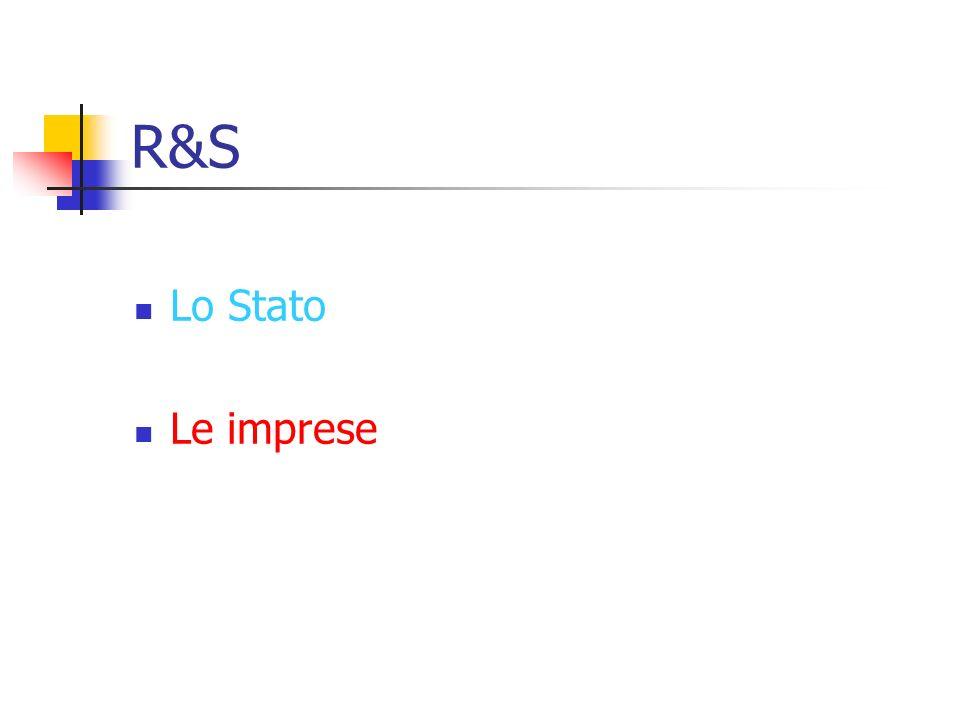 R&S Lo Stato Le imprese