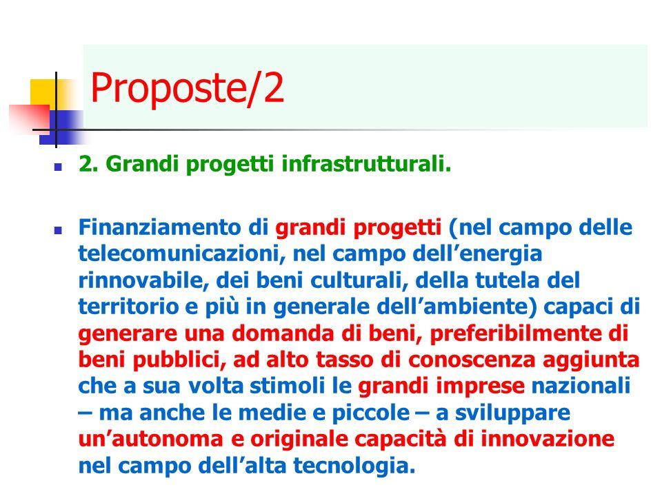 Proposte/2 2. Grandi progetti infrastrutturali.