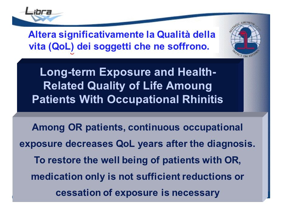 Long-term Exposure and Health- Related Quality of Life Amoung Patients With Occupational Rhinitis Liisa K et al.