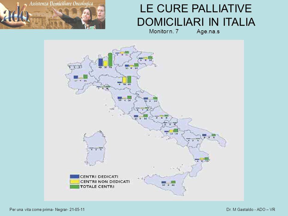 LE CURE PALLIATIVE DOMICILIARI IN ITALIA Monitor n. 7Age.na.s