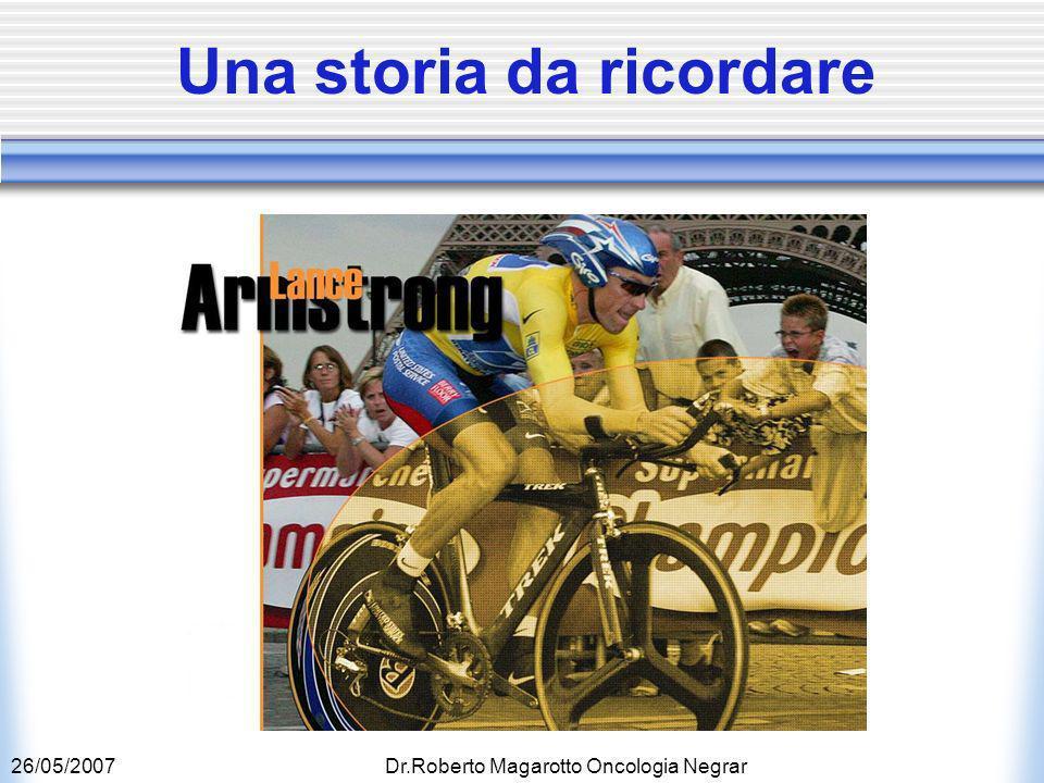 26/05/2007Dr.Roberto Magarotto Oncologia Negrar Una storia da ricordare