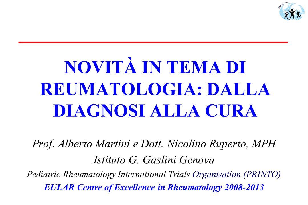 Sommario u Artrite idiopatica giovanile (AIG) -Diagnosi -Fattori prognostici -Terapia