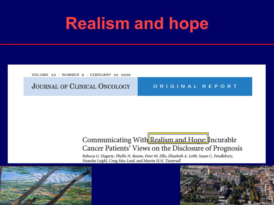 5 Realism and hope