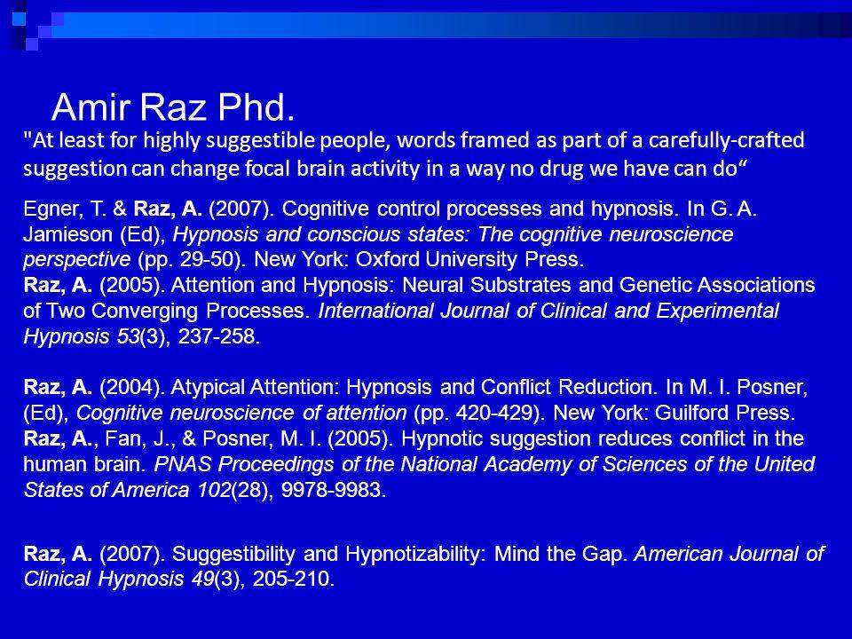 Amir Raz Phd.