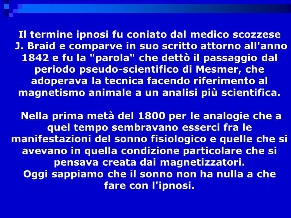 Il termine ipnosi fu coniato dal medico scozzese J.