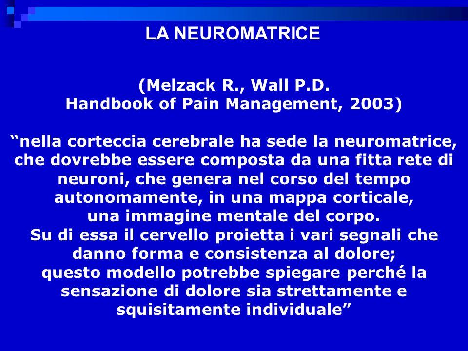 LA NEUROMATRICE (Melzack R., Wall P.D.