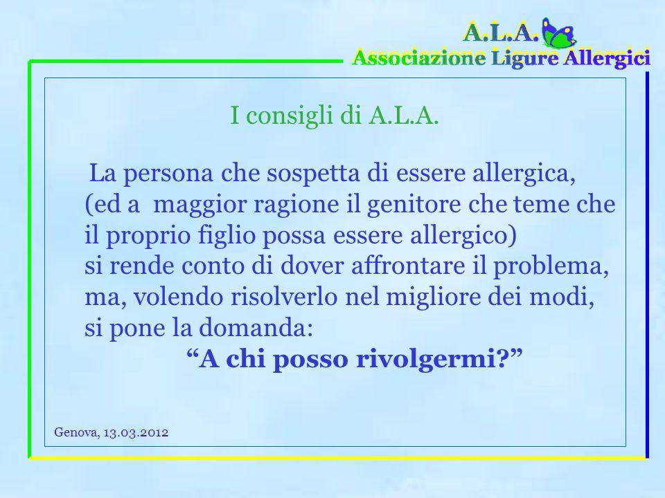 che cosa fanno le Associazioni di pazienti allergici? 2) Una volta accertata lallergia, le Associazioni dei Pazienti insistono perché le prescrizioni