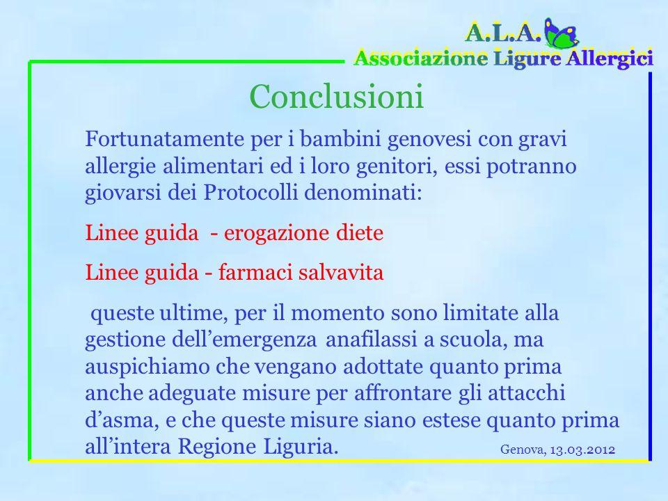 Food allergy nei bambini Ciò comporta che la ristorazione scolastica dia le massime garanzie alla famiglia ed alla scuola, adottando, nei confronti de