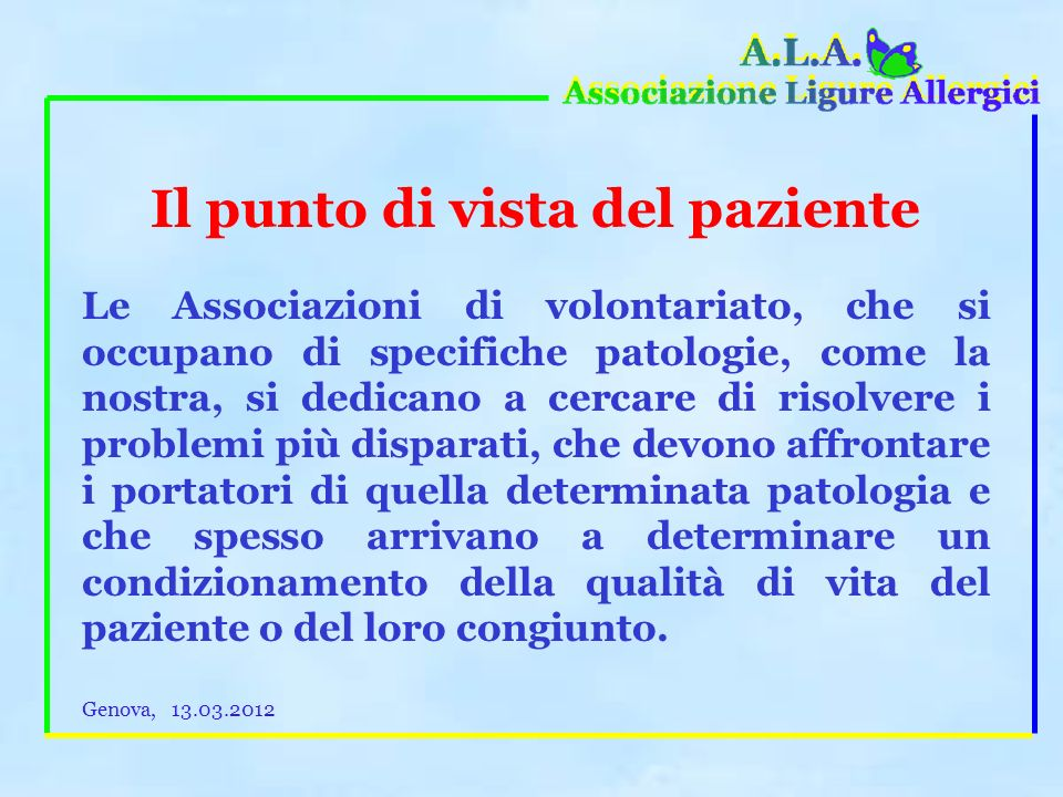 Federasma Onlus è associata ad unorganizzazione a livello europeo, lE.F.A: European Federation of Allergy and Airways Diseases Patients Associations w