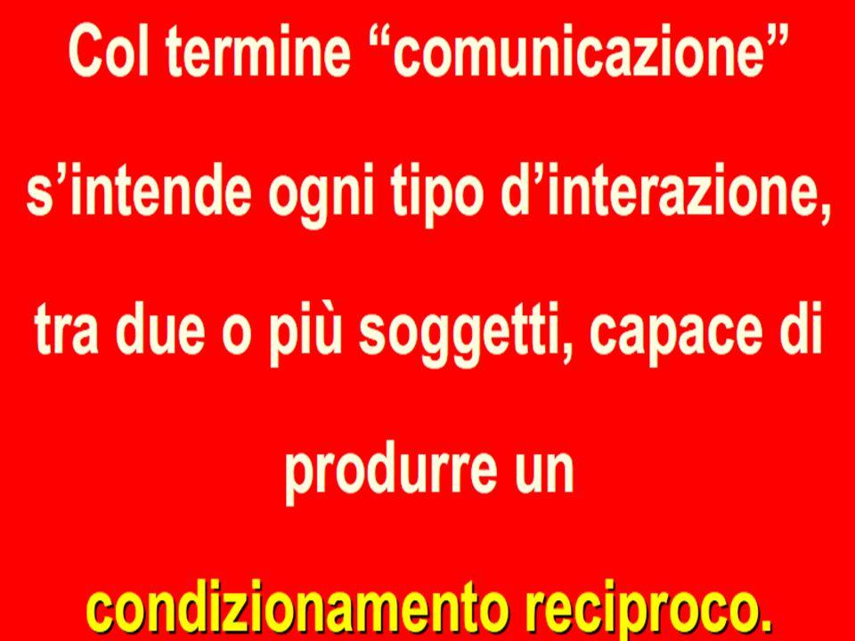 La comunicazione Il termine comunicazione deriva dalla parola communis: mettere in comune con altri informazione, idee, emozioni Ogni cosa comunica e
