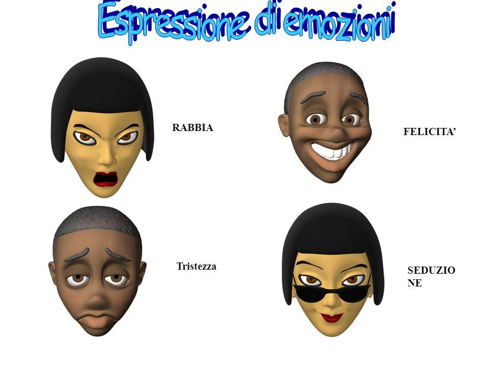 Insiemi di espressioni del volto, la parte del nostro corpo più espressiva LA MIMICA FACCIALE SI SUDDIVIDE IN TRE FUNZIONI : ESPRESSIONE DI EMOZIONI I