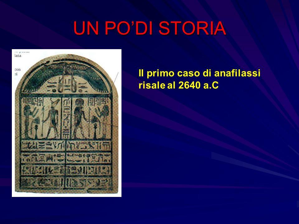 UN PODI STORIA Il primo caso di anafilassi risale al 2640 a.C