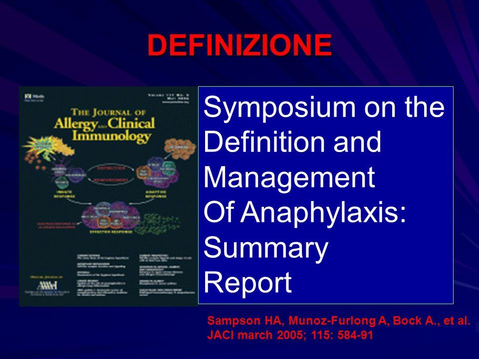 ADRENALINA E il farmaco di scelta nelle reazioni anafilattiche.
