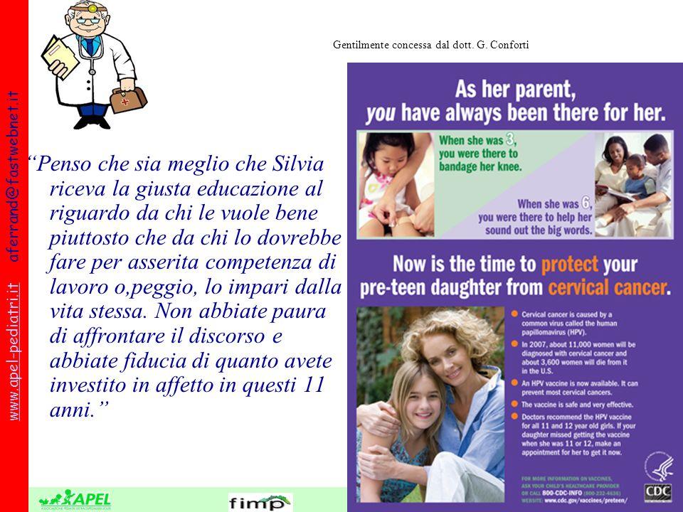 FEDERAZIONE REGIONALE ORDINI DEI MEDICI DELLA LIGURIA www.apel-pediatri.itwww.apel-pediatri.it aferrand@fastwebnet.it Penso che sia meglio che Silvia