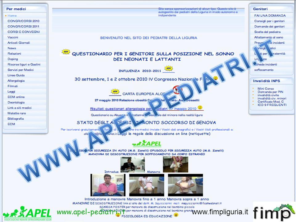 www.apel-pediatri.it www.fimpliguria.it www.apel-pediatri.it www.fimpliguria.it