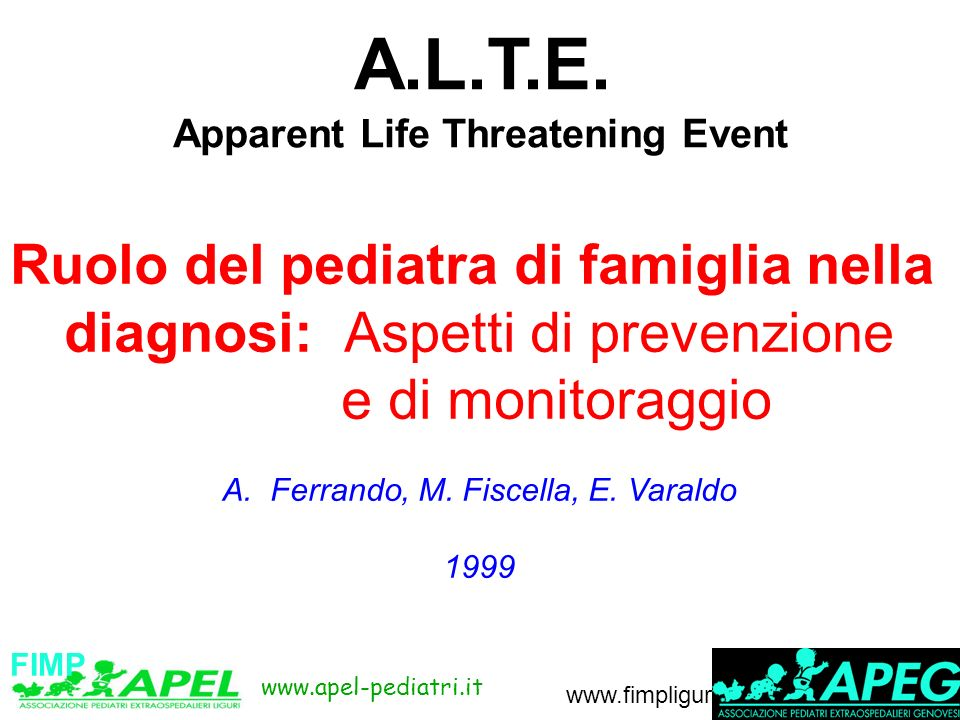 www.apel-pediatri.it www.fimpliguria.it A.L.T.E.