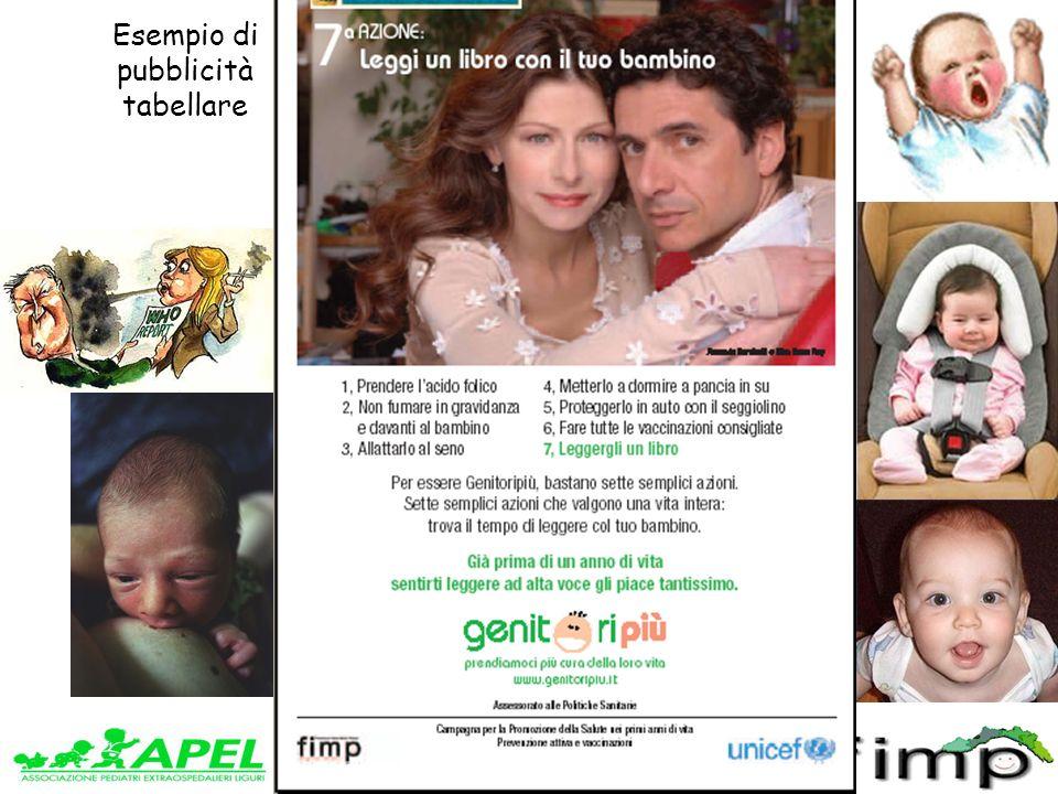 www.apel-pediatri.it www.fimpliguria.it Esempio di pubblicità tabellare