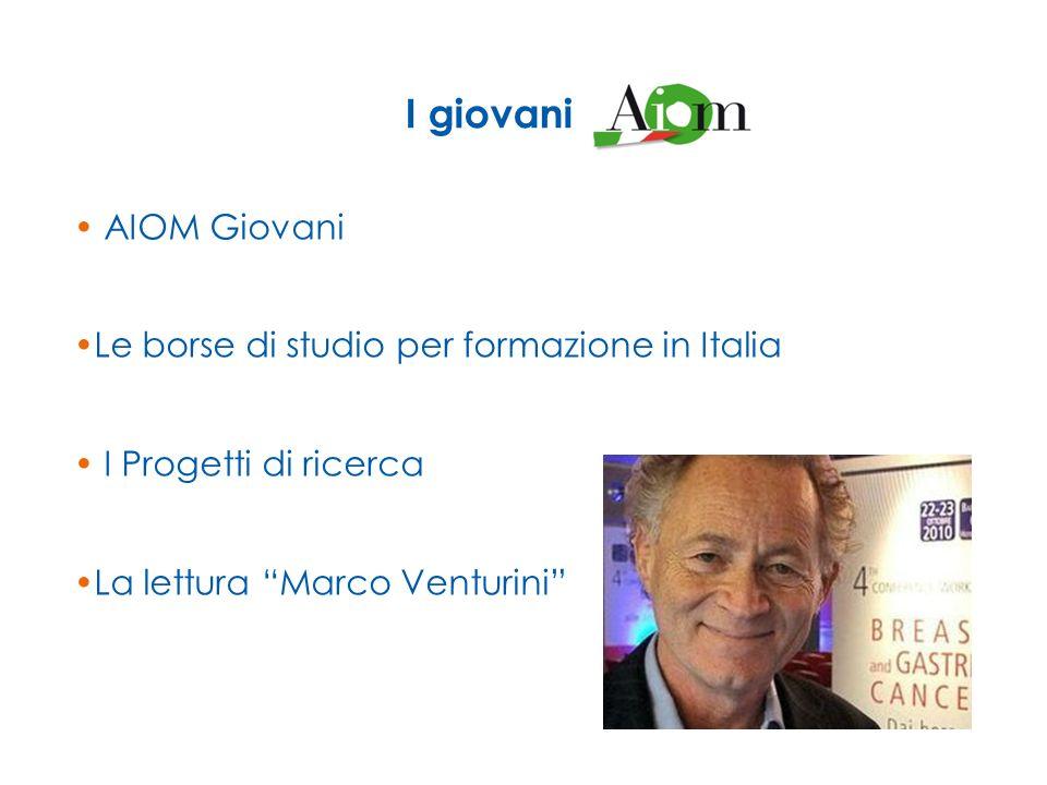 AIOM Giovani Le borse di studio per formazione in Italia I Progetti di ricerca La lettura Marco Venturini