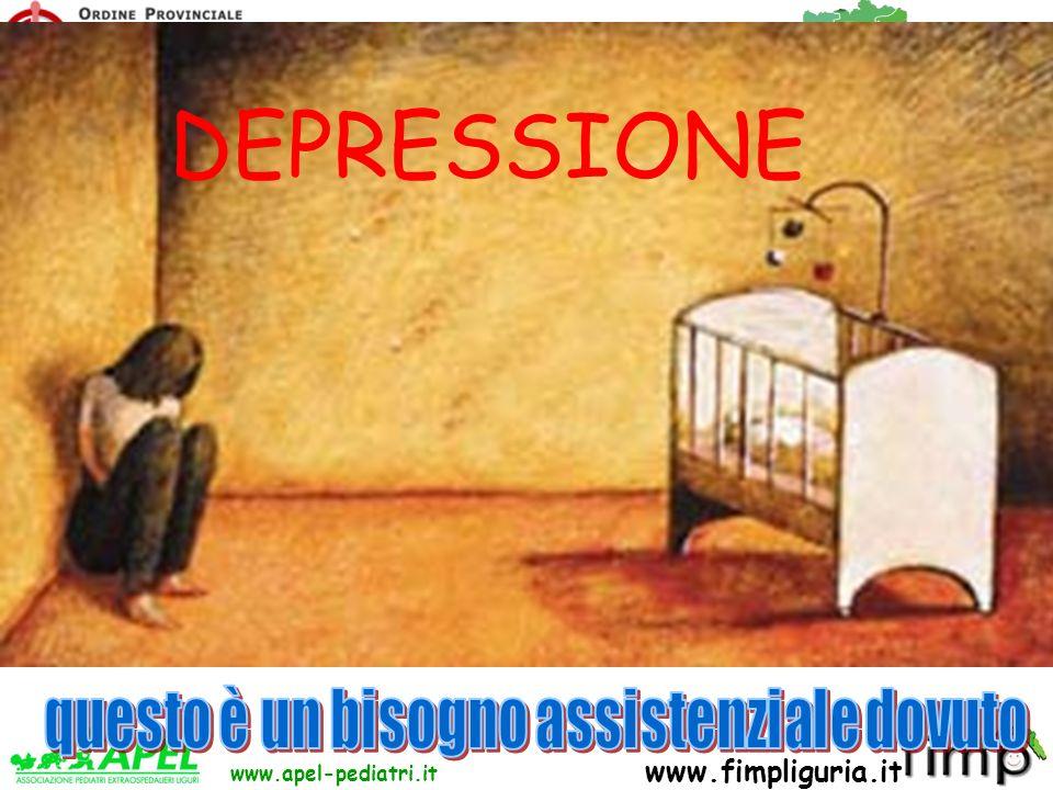 FED. REG. ORDINI DEI MEDICI DELLA LIGURIA www.apel-pediatri.it www.fimpliguria.it DEPRESSIONE