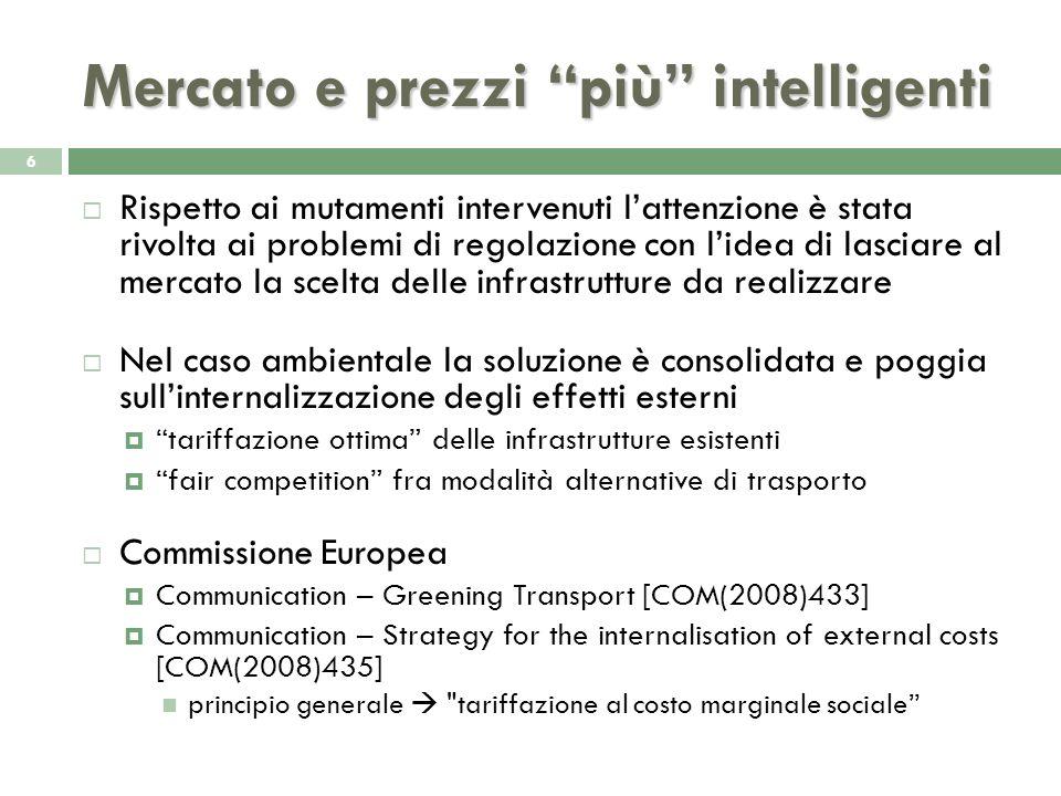 Politiche infrastrutturali e sostenibilità ambientale 7 Risultati sinora ottenuti richiedono un approccio diverso (Marletto, 2008; Banister, 2007) Due aspetti di criticità: 1.