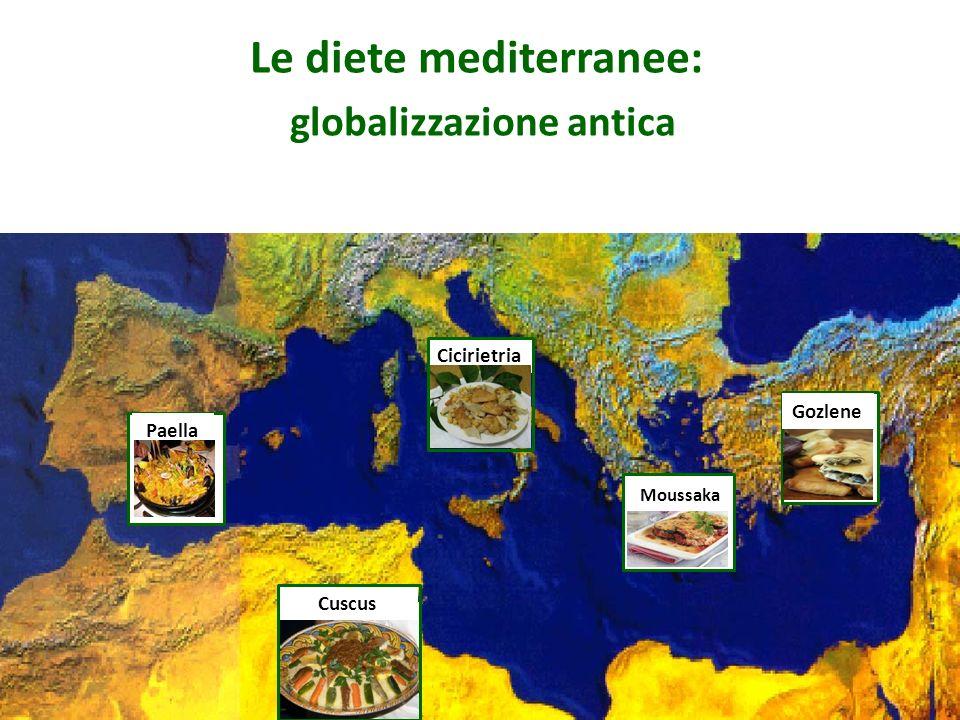 Cuscus Paella Moussaka Gozlene Le diete mediterranee: globalizzazione antica Cicirietria
