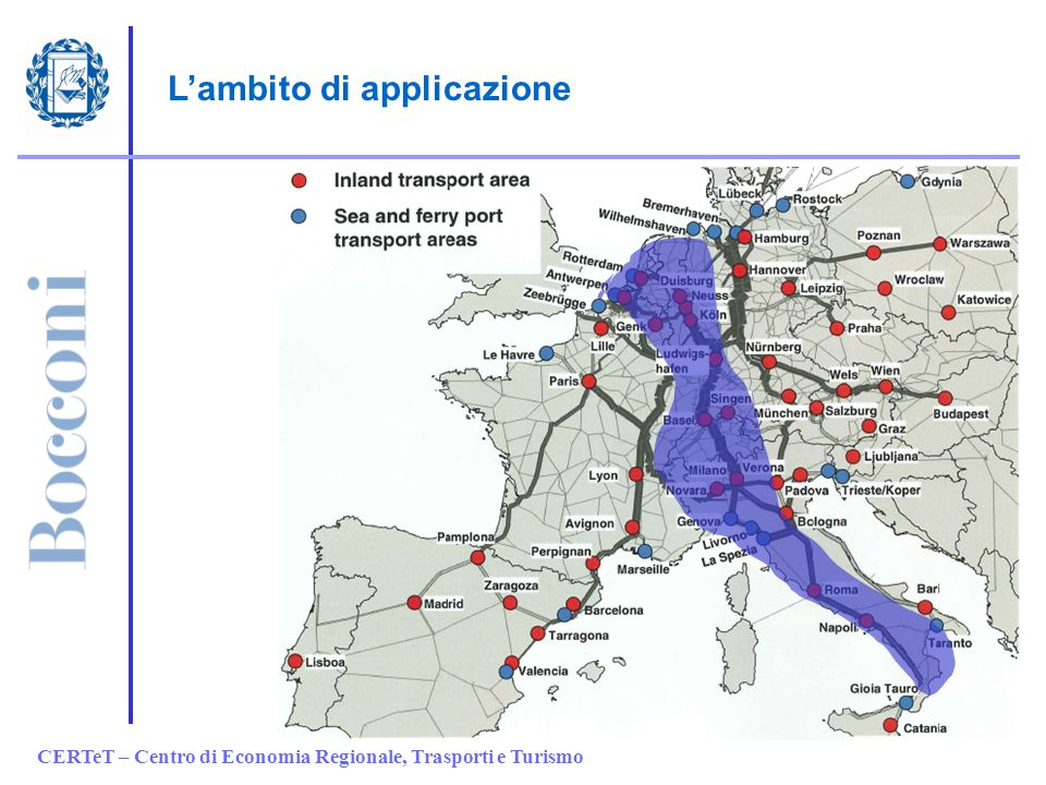 CERTeT – Centro di Economia Regionale, Trasporti e Turismo Lambito di applicazione