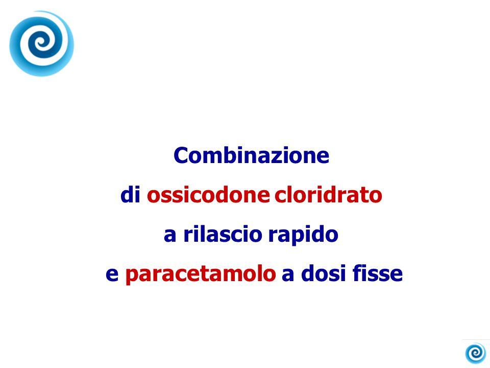 Combinazione di ossicodone cloridrato a rilascio rapido e paracetamolo a dosi fisse