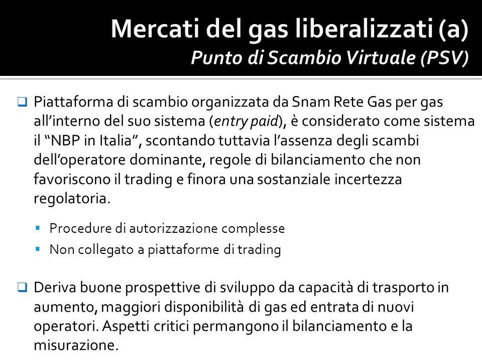 Piattaforma di scambio organizzata da Snam Rete Gas per gas allinterno del suo sistema (entry paid), è considerato come sistema il NBP in Italia, scon