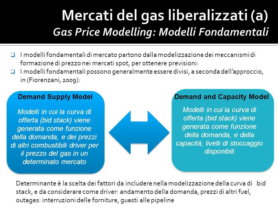 I modelli fondamentali di mercato partono dalla modelizzazione dei meccanismi di formazione di prezzo nei mercati spot, per ottenere previsioni: I mod