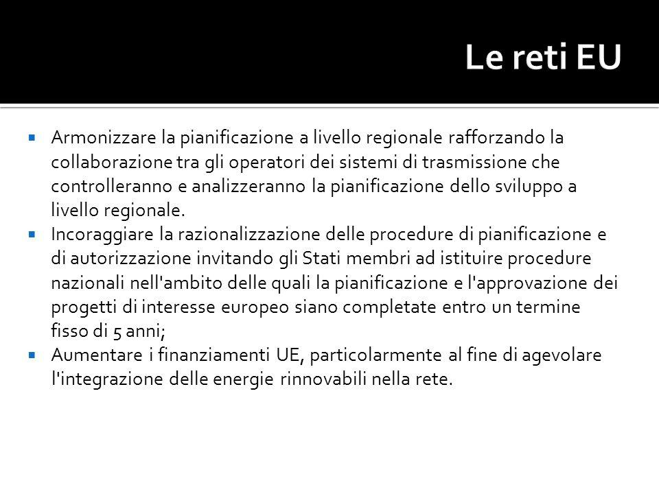 Armonizzare la pianificazione a livello regionale rafforzando la collaborazione tra gli operatori dei sistemi di trasmissione che controlleranno e ana