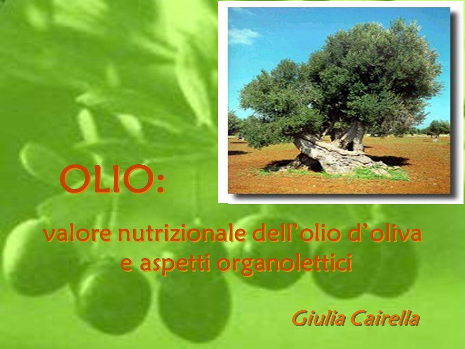 valore nutrizionale dellolio doliva e aspetti organolettici Giulia Cairella OLIO: