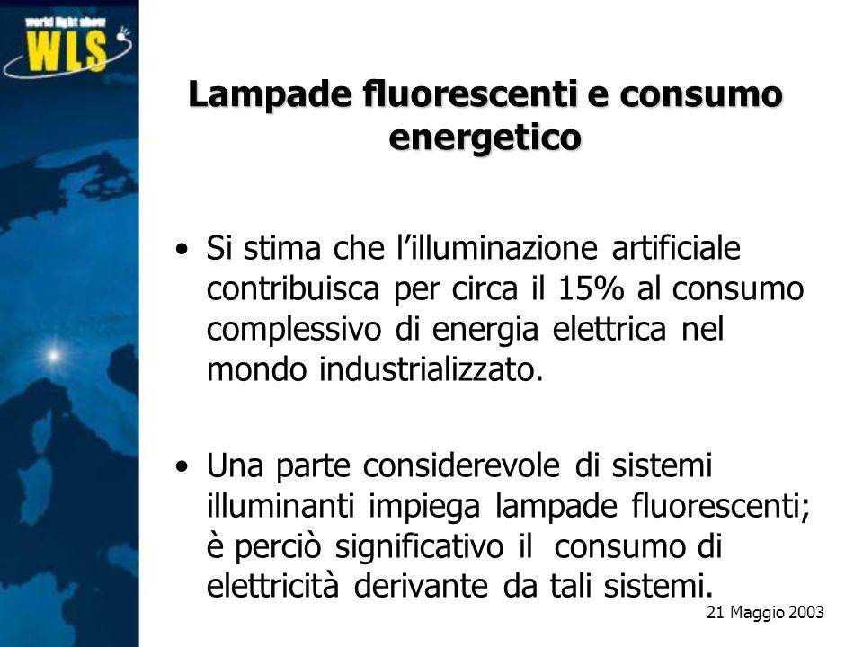 Si stima che lilluminazione artificiale contribuisca per circa il 15% al consumo complessivo di energia elettrica nel mondo industrializzato. Una part