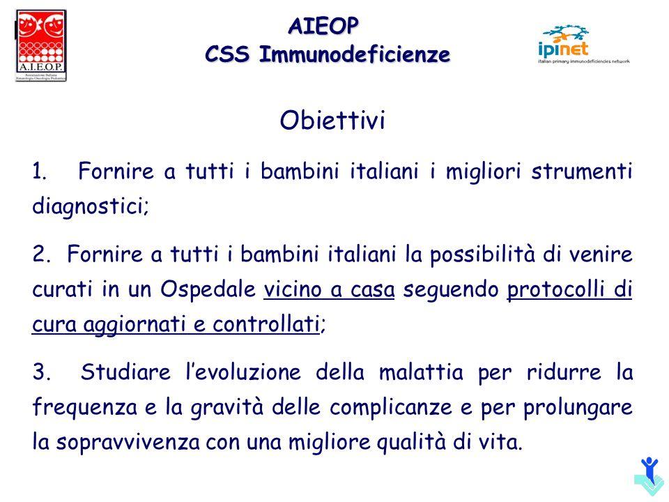 Obiettivi 1. Fornire a tutti i bambini italiani i migliori strumenti diagnostici; 2. Fornire a tutti i bambini italiani la possibilità di venire curat