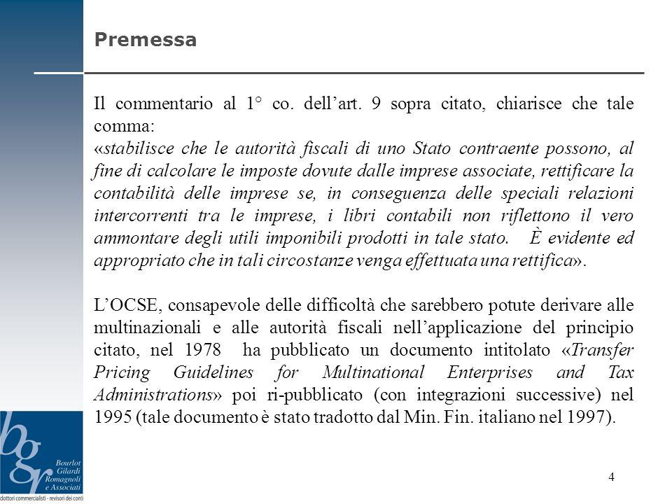 In Italia, i principi sopra brevemente illustrati sono stati recepiti nel 7° co.
