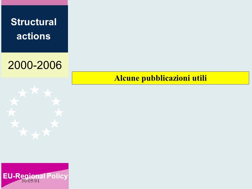 2000-2006 EU-Regional Policy Structural actions 30/05/01 Alcune pubblicazioni utili